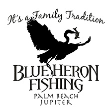 Blue Heron Fishing Logo