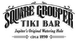 Square Grouper Tiki bar Logo